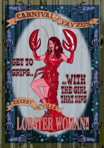 Is it a crab? Is it a craw? It's LOBSTER WOMAN!